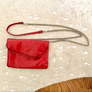 HOBO red Daria crossbody with chain strap #